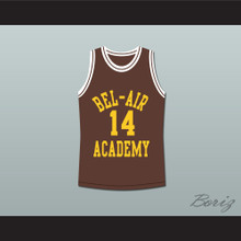 The Fresh Prince of Bel-Air Will Smith Bel-Air Academy Brown Basketball Jersey