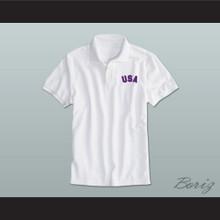 White USA Polo Shirt