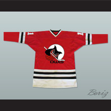 Columbus Owls IHL Hockey Jersey Red