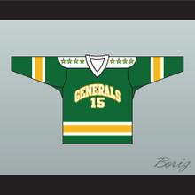 1960's Style EHL Greensboro Generals Green Hockey Jersey