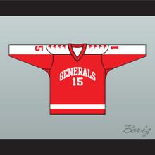 1970 EHL Greensboro Generals Red Hockey Jersey