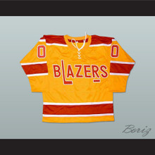 Bernie Parent Philadelphia Blazers Hockey Jersey Stitch Sewn New