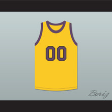 Cole Brown Your Name Here 00 Yellow Basketball Jersey Martin