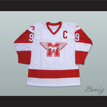Derek Sutton Hamilton Mustangs Hockey Jersey Youngblood Movie Patrick Swayze