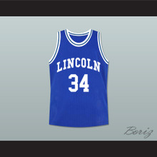 Ray Allen Jesus Shuttlesworth 34 Blue Lincoln High School Basketball Jersey He Got Game