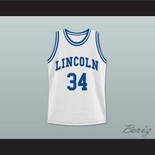 Ray Allen Jesus Shuttlesworth 34 White Lincoln High School Basketball Jersey He Got Game