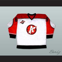 "Doug ""The Thug"" Glatt 69 Orangetown Assassins Hockey Jersey Includes NCHL Patch White"