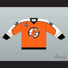 "Doug ""The Thug"" Glatt 69 Orangetown Assassins Hockey Jersey Includes NCHL Patch Orange"