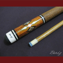 Boriz Billiards Brown Snake Skin Grip Pool Cue Stick Original Inlay Artwork 007