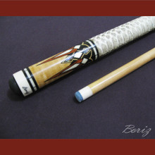 Boriz Billiards Snake Skin Grip Pool Cue Stick Original Inlay Artwork 008