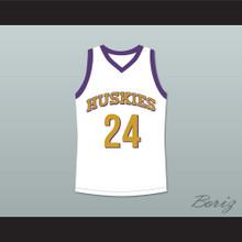 Kadeem Hardison Antoine Tyler 24 Huskies Basketball Jersey The 6th Man White
