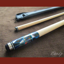 Boriz Billiards Cue Stick Original Inlay Artwork 051