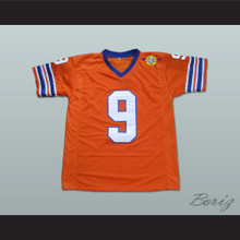 Adam Sandler Bobby Boucher The Waterboy Mud Dogs Football Jersey with Bourbon Bowl Patch Alternate