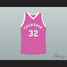 Monica Wright 32 Crenshaw High School Pink Basketball Jersey Love and Basketball