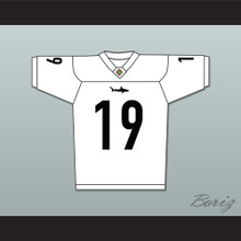 Jack 'Cap' Rooney 19 Miami Sharks White Football Jersey Any Given Sunday Includes AFFA Patch