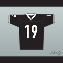 Jack 'Cap' Rooney 19 Miami Sharks White Trim Football Jersey Any Given Sunday Includes AFFA Patch