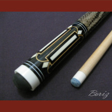 Boriz Billiards Laminated Snake Skin Grip Pool Cue Stick Original Inlay Artwork 034