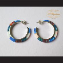 P Middleton Multi-Colored Hoop Earrings Sterling Silver .925
