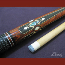 Boriz Billiards Linen Grip Pool Cue Stick Original Inlay Artwork 047