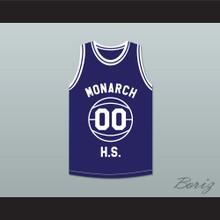 Duane Martin Kyle Lee Watson 00 Monarch High School Blue Practice Basketball Jersey Above The Rim