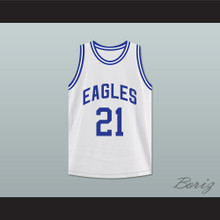 Rapper Tauheed Epps 2 Chainz 21 North Clayton High School Eagles White Basketball Jersey