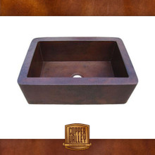 Copper Valley Farmhouse Sink 16 Gauge Smooth Finish Copper Kitchen Sink