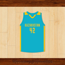 Borat Sagdiyev 42 Glorious Nation of Kazakhstan Basketball Jersey by Morrissey&Macallan