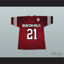 Greenberg 21 Beacon Hills Cyclones Lacrosse Jersey Teen Wolf Includes Patch