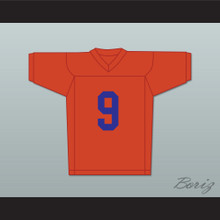 Adam Sandler Bobby Boucher 9 Mud Dogs Football Jersey The Waterboy