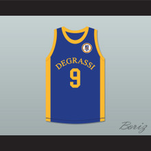 Jimmy Brooks 9 Degrassi Community School Panthers Home Basketball Jersey with Patch