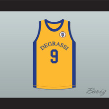 Jimmy Brooks 9 Degrassi Community School Panthers Away Basketball Jersey with Patch