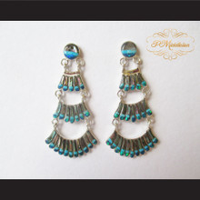 P Middleton Chandelier Earrings Sterling Silver .925