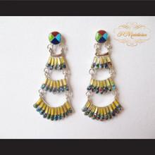 P Middleton Chandelier Style Earrings Sterling Silver .925