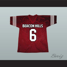 Danny Mahealani 06 Beacon Hills Cyclones Maroon Lacrosse Jersey Teen Wolf