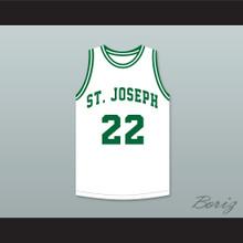 Butch McRae 22 St Joseph High School Basketball Jersey Blue Chips