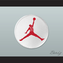 Set of 5 Urkel Red Jumpman Logo Spoof Embroidered Patches