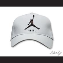 Steve Urkel Jumpman Spoof Logo White Baseball Hat Family Matters