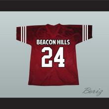 Stiles Stilinski 24 Beacon Hills Cyclones Maroon Lacrosse Jersey Teen Wolf