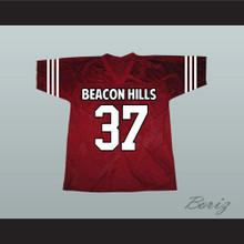 Jackson Whittemore 37 Beacon Hills Cyclones Maroon Lacrosse Jersey Teen Wolf