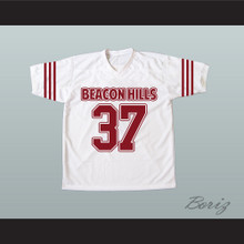 Jackson Whittemore 37 Beacon Hills Cyclones White Lacrosse Jersey Teen Wolf