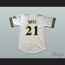 Bernie Mac Stan Ross 21 Pro Career White Baseball Jersey Mr 3000