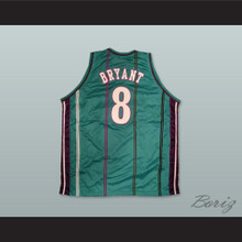 Kobe Bryant 8 Drafted Team Fantasy Green Basketball Jersey