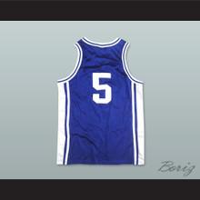 Tupac Shakur Jeff Capel 5 Iconic Blue Basketball Jersey