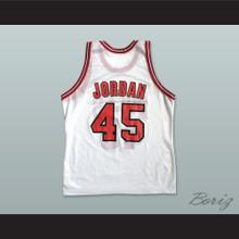 Michael Jordan 45 Post Retirement White Basketball Jersey