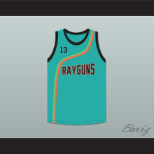 Steve Nash 13 Roswell Rayguns Teal Basketball Jersey