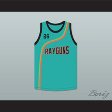 Bootsy 'Bootzilla' Collins 26 Roswell Rayguns Teal Basketball Jersey