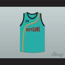 Paul Pierce 34 Roswell Rayguns Teal Basketball Jersey