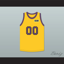 Cole Brown 00 Yellow Basketball Jersey with Martin Patch