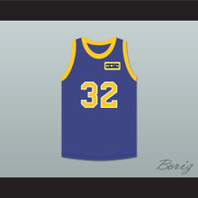Air Gordon 32 Blue Basketball Jersey with Martin Patch