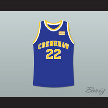 Quincy McCall 22 Crenshaw High School Blue Basketball Jersey with Love and Basketball Patch